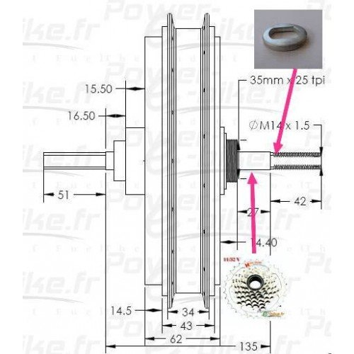 spacer washer for electric bike 14mm axle