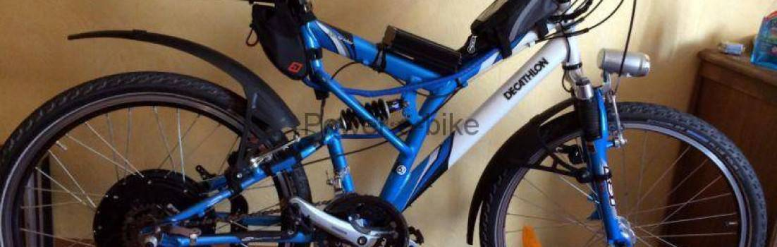 I set the electric bike because of health problems